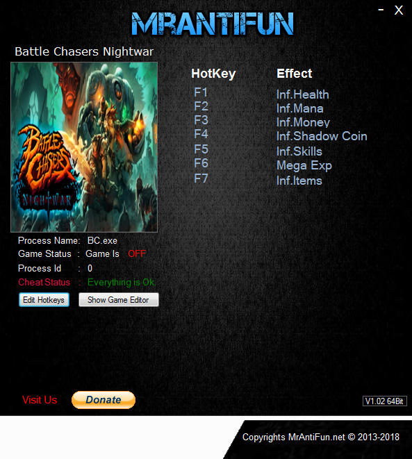 Battle Chasers: Nightwar - Trainer +7 v24034 {MrAntiFun}