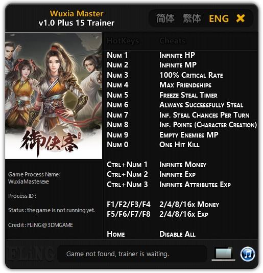 Wuxia Master: Trainer +15 v1.0 {FLiNG}