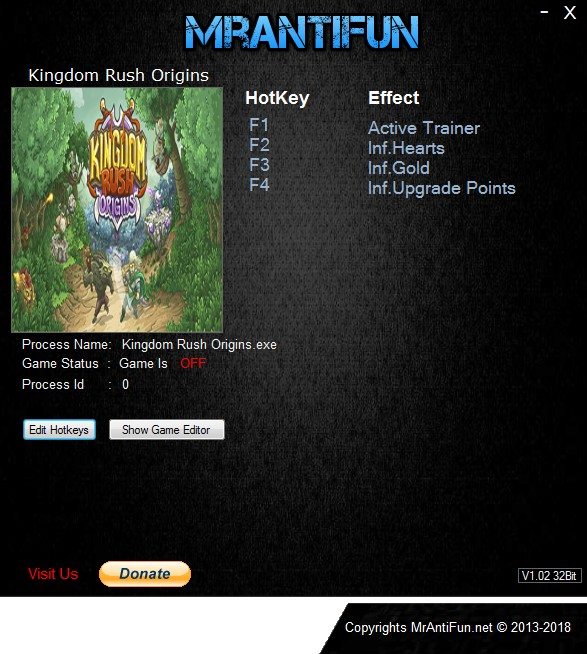Kingdom Rush Origins: Trainer +3 v1.0.2 {MrAntiFun}