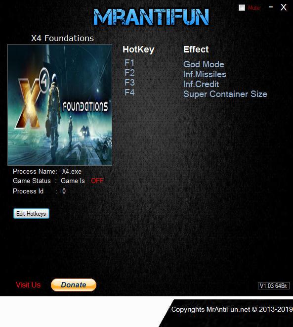 X4: Foundations - Trainer +2 v1.10 {MrAntiFun}