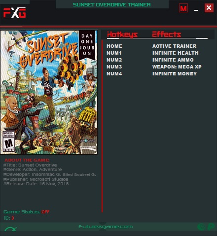 Sunset Overdrive: Trainer +4 v1 0 {FutureX} - Download