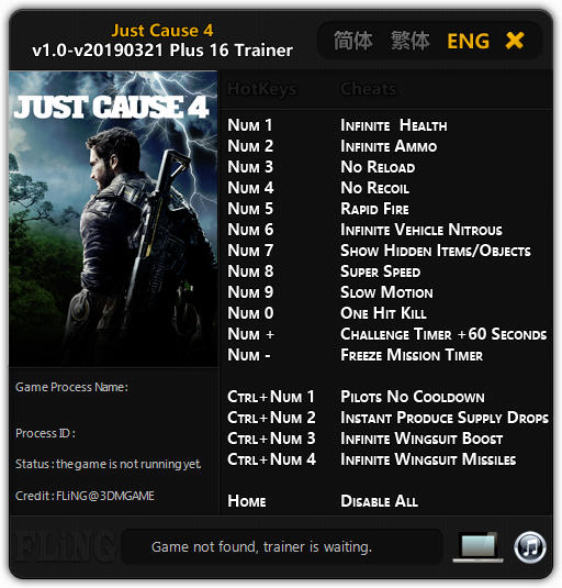 Just Cause 4: Trainer +11 v1.0 {FLiNG}