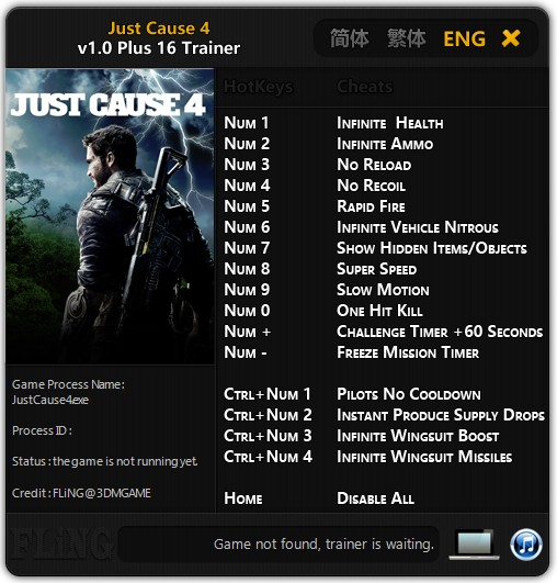 Just Cause 4: Trainer +16 v1.0 {FLiNG} - Download - GTrainers