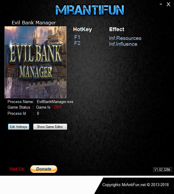 Evil Bank Manager: Trainer +2 v20.12.2018 {MrAntiFun}