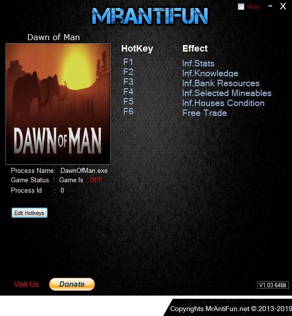 Dawn of Man: Trainer +6 v0.4.0 {MrAntiFun}