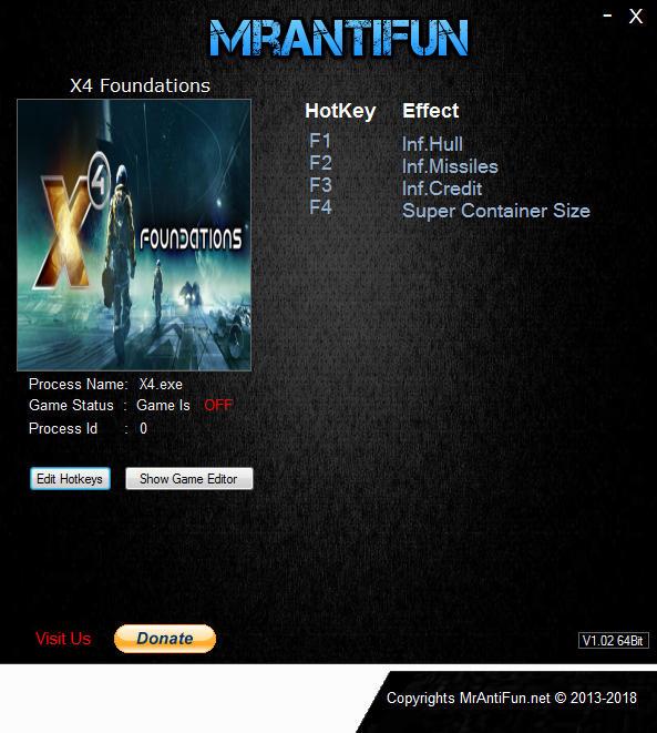 X4: Foundations - Trainer +4 v1.5 {MrAntiFun}