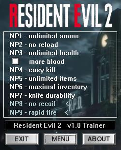 Resident Evil 2 Remake: Trainer +9 v1 0 {dR oLLe} - Download