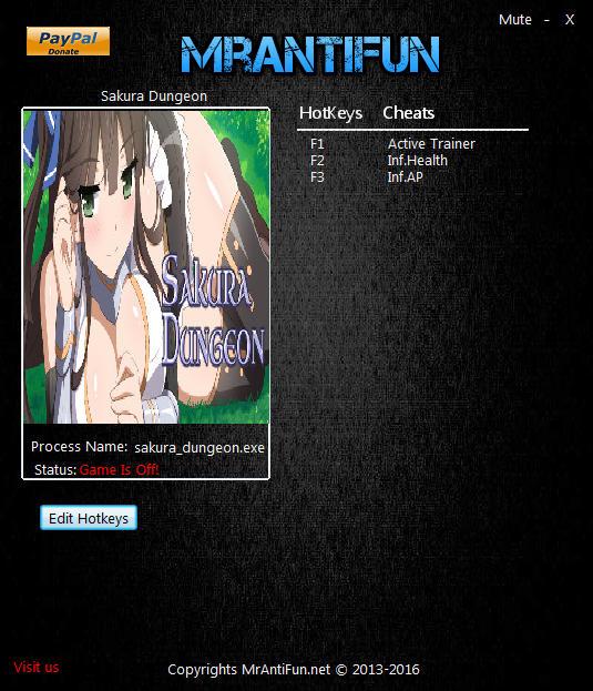 Sakura Dungeon: Trainer +3 v1.0 {MrAntiFun} - Download - GTrainers