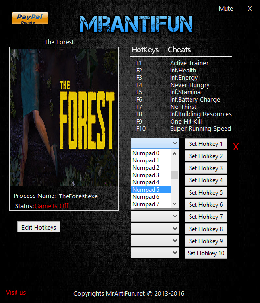 The Forest: Trainer (+10) [0.40] {MrAntiFun}