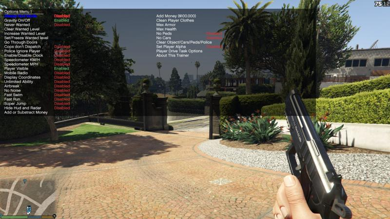 Grand Theft Auto 5: Cheat-Mode (Simple Trainer for GTA V 8.1) [SP Only]