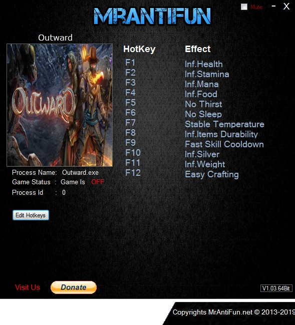 Outward: Trainer +12 v1.01 {MrAntiFun}