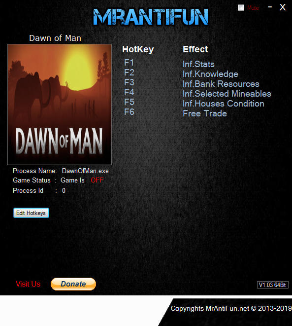 Dawn of Man: Trainer +6 v1.1.0 {MrAntiFun}