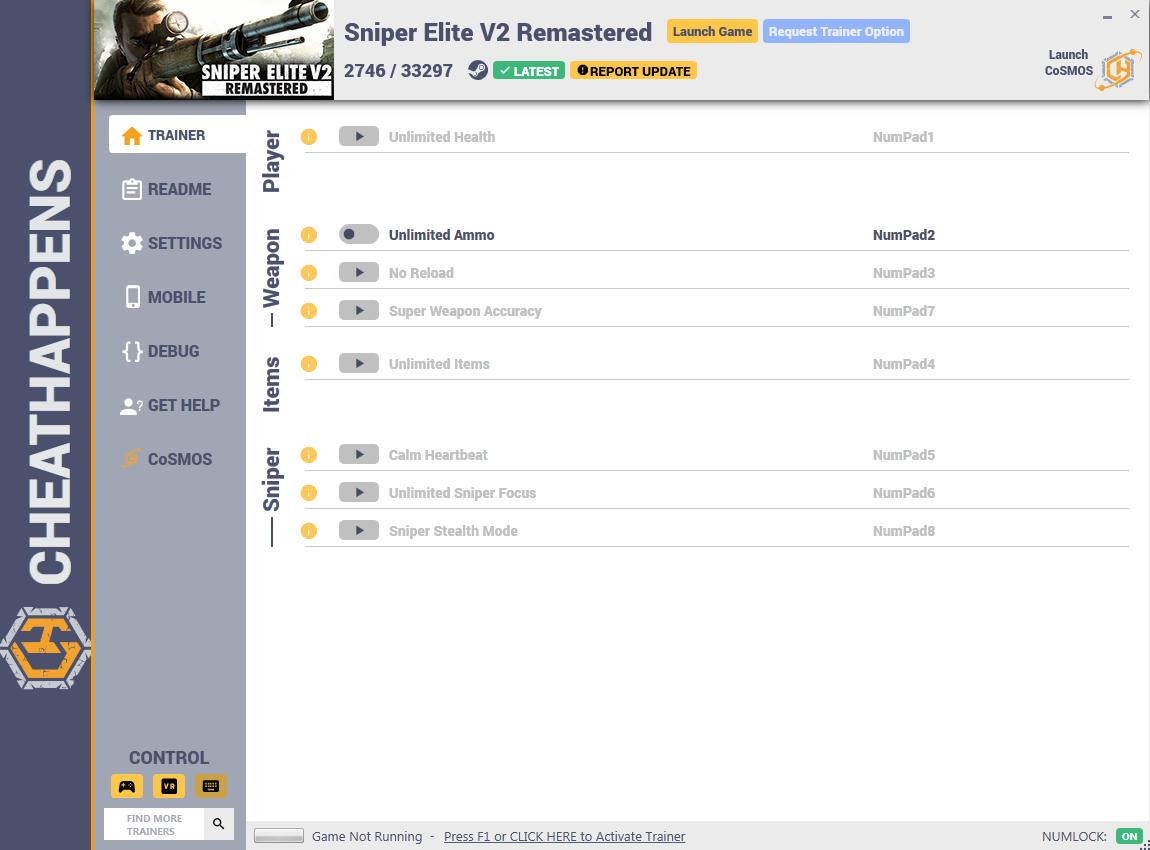 Sniper Elite V2 Remastered: Trainer +8 v2746/33297