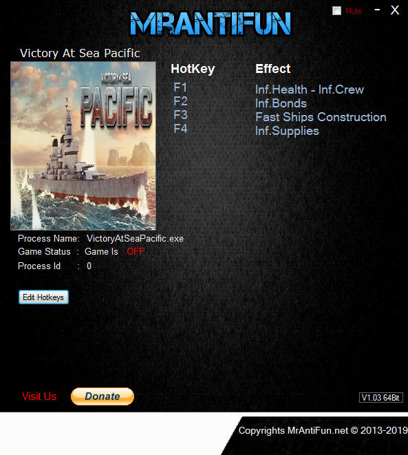 Victory At Sea Pacific: Trainer +4 v1.4.0 {MrAntiFun}