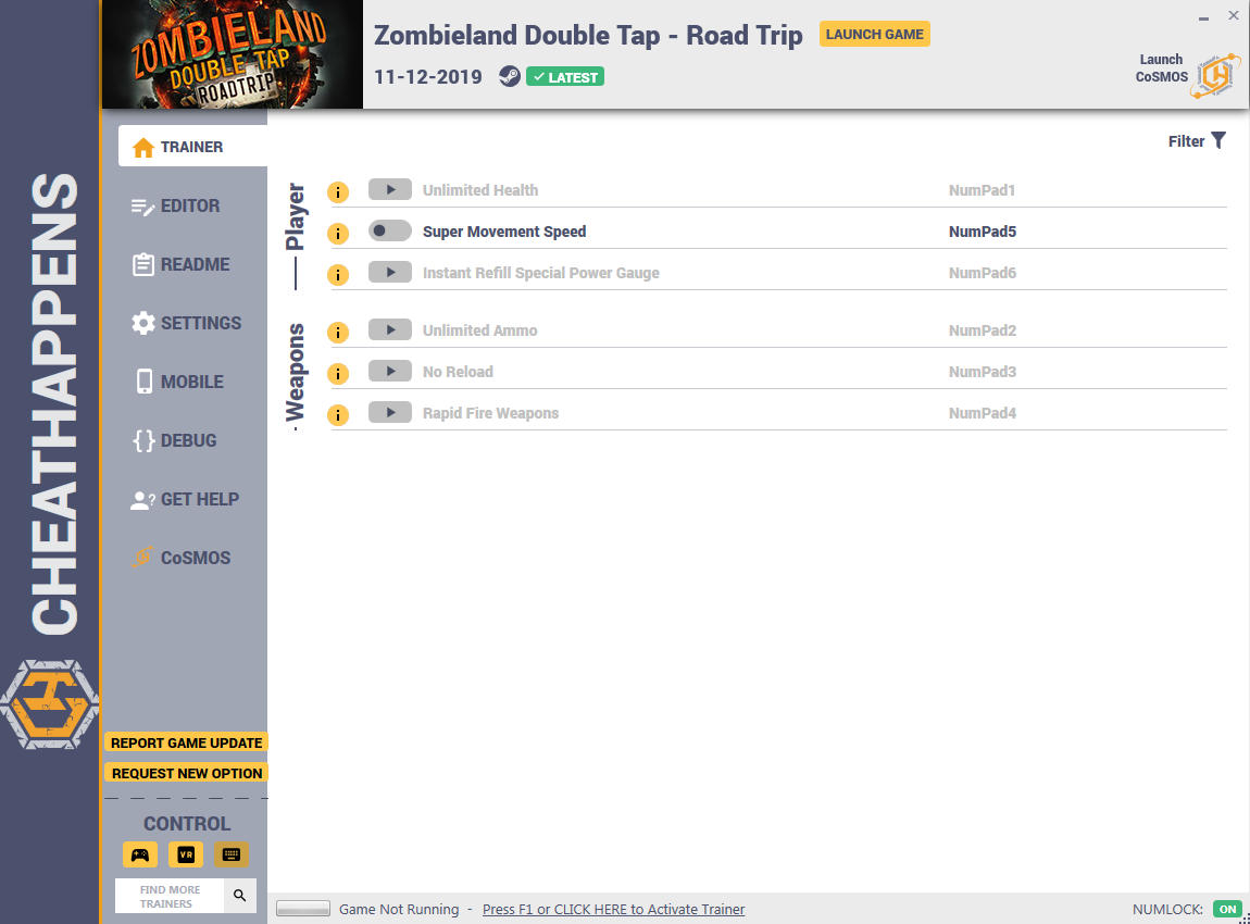 Zombieland: Double Tap - Road Trip: Trainer +9 v1.0 {CheatHappens.com}