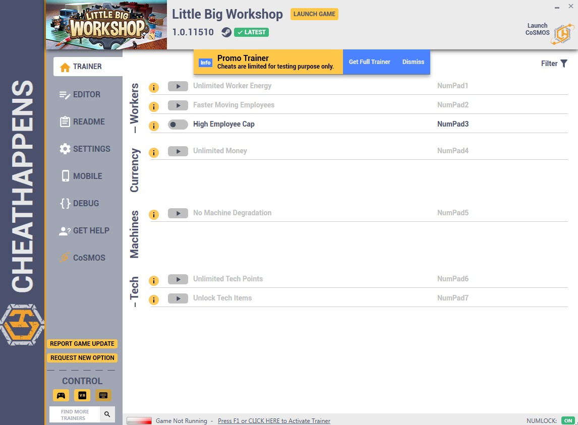 Little Big Workshop: Trainer +9 v1.0.11510 {CheatHappens.com}