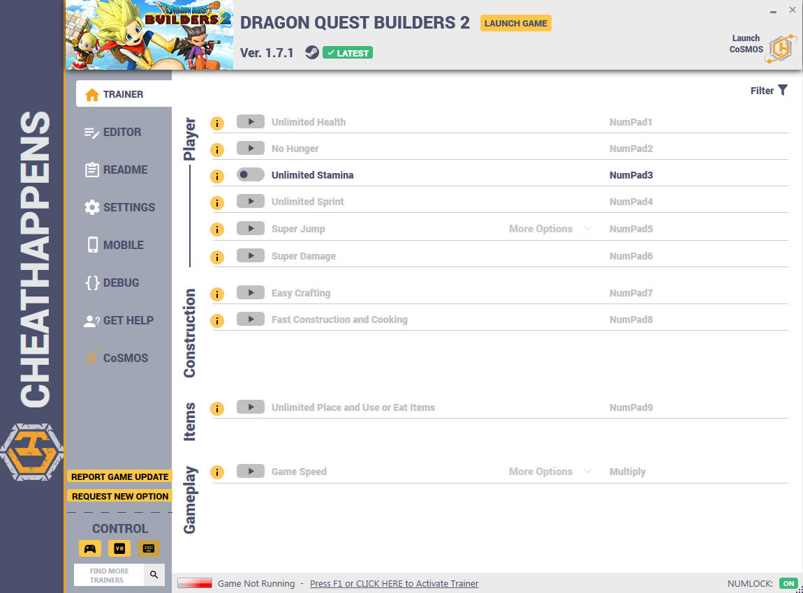 Dragon Quest Builders 2: Trainer +28 v1.7.1 {CheatHappens.com}