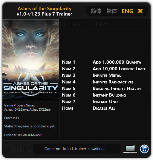 Ashes of the Singularity: Trainer (+7) [1.0 - 1.23] {FLiNG}