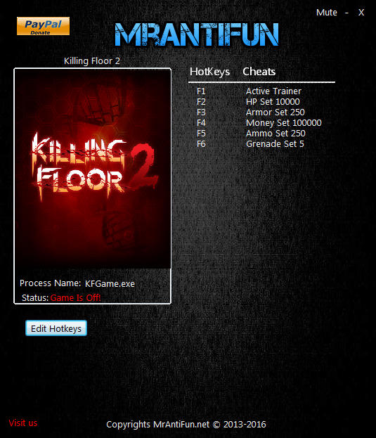 Killing Floor 2: Trainer +5 v1063 {MrAntiFun}