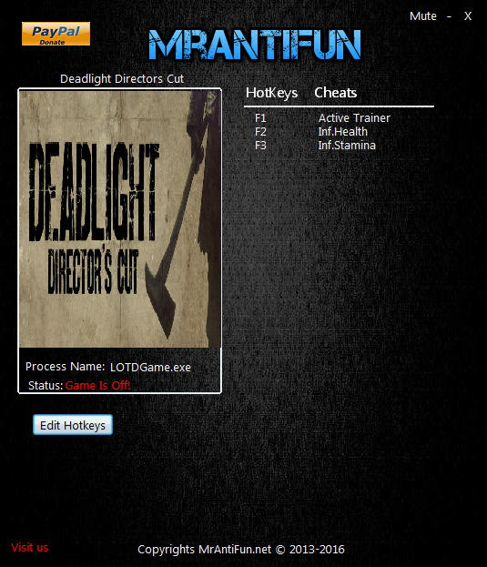 Deadlight: Director's Cut -Trainer +2 v1.00 {MrAntiFun}