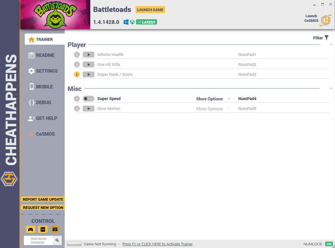 Battletoads: Trainer +5 v1.4.1428.0 {CheatHappens.com}