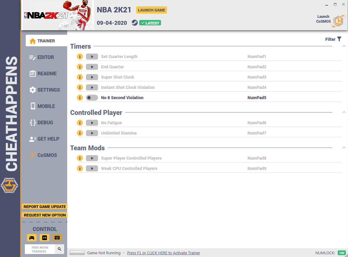 NBA 2K21: Trainer +13 v1.0 {CheatHappens.com}