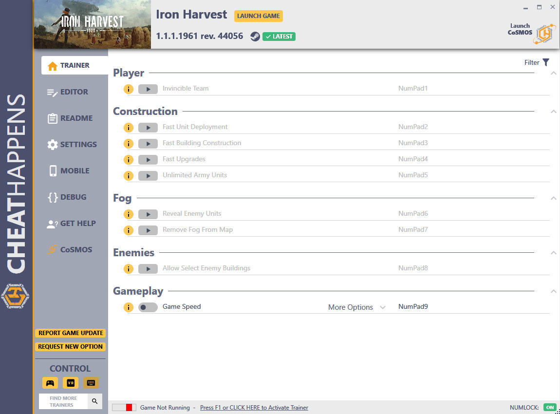 Iron Harvest: Trainer +13 v1.0.1.1647 rev. 38869 {CheatHappens.com}