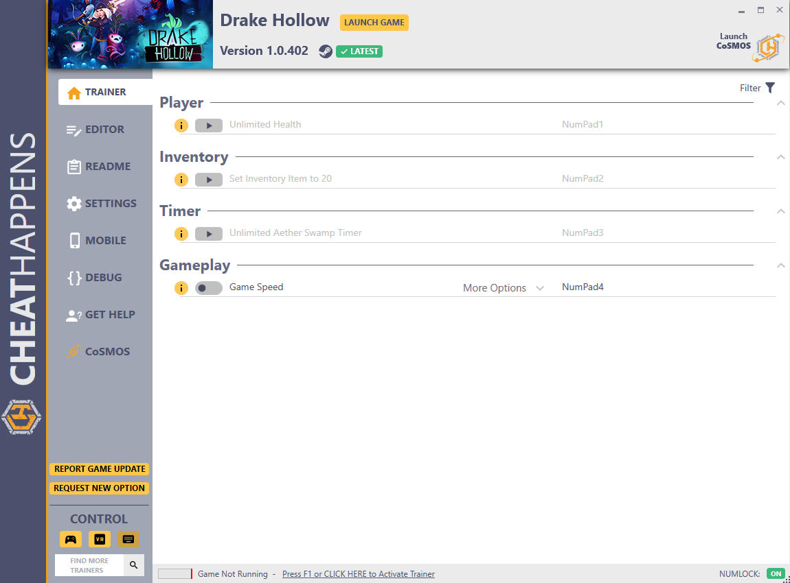 Drake Hollow: Trainer +16 v1.0.402 {CheatHappens.com}
