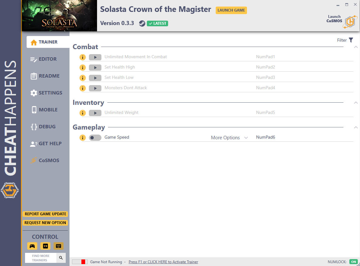 Solasta: Crown of the Magister - Trainer +31 v0.3.3 {CheatHappens.com}