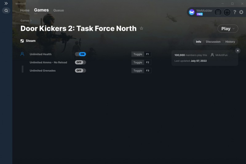 Door Kickers 2: Task Force North - Trainer +5 v1.0 {CheatHappens.com}