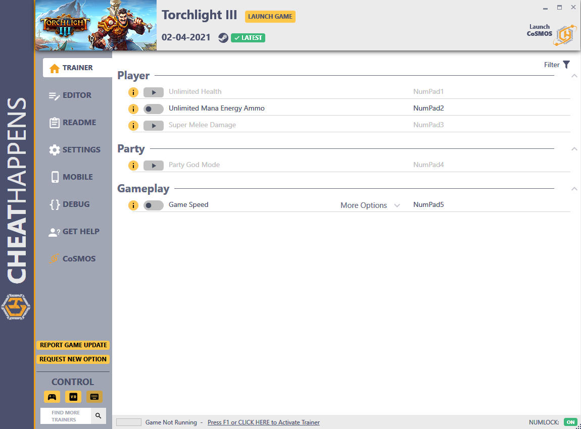 Torchlight III: Trainer +17 v02.04.2021 {CheatHappens.com}