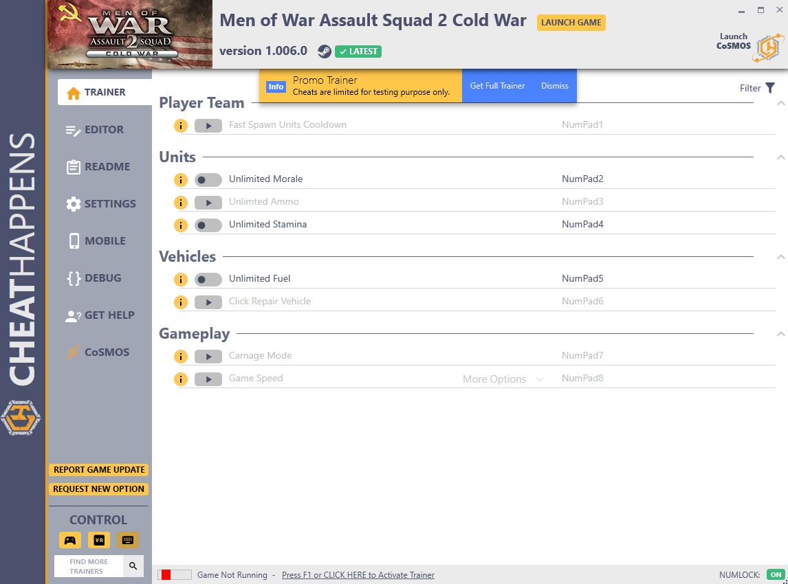 Men of War: Assault Squad 2 Cold War - Trainer +29 v1.006.0 {CheatHappens.com}