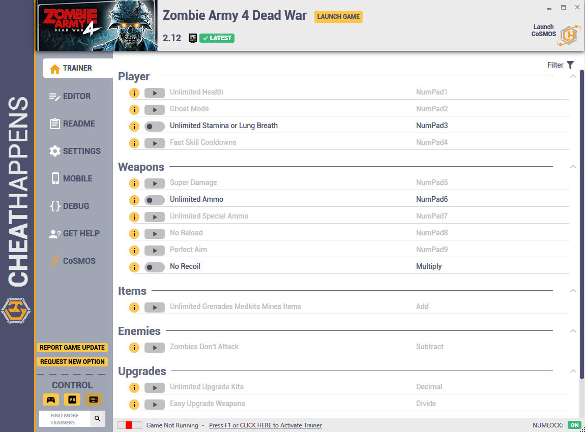 Zombie Army 4 - Dead War: Trainer +20 v2.12 {CheatHappens.com}