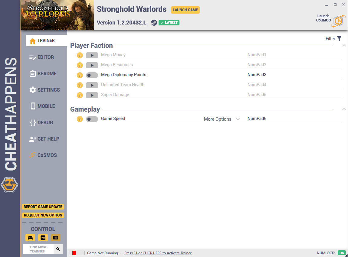 Stronghold: Warlords - Trainer +8 v1.2.20432.L {CheatHappens.com}